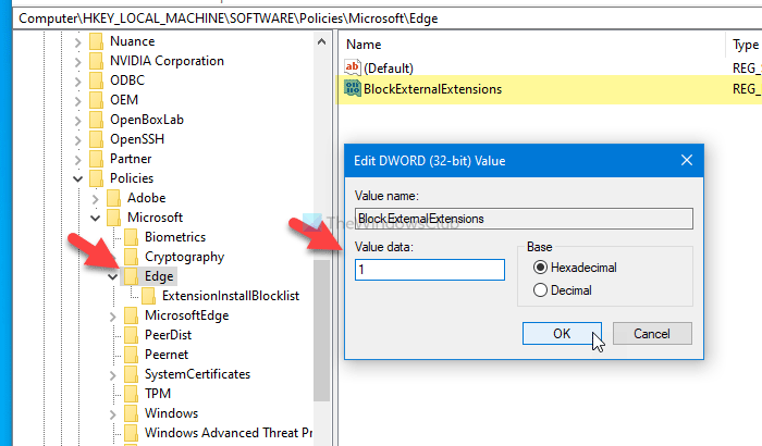 Cómo evitar que los usuarios instalen extensiones en Edge