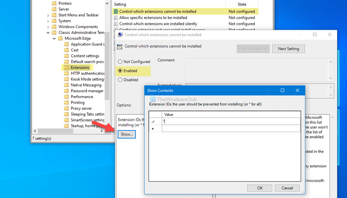 Impedir que los usuarios instalen extensiones en Edge
