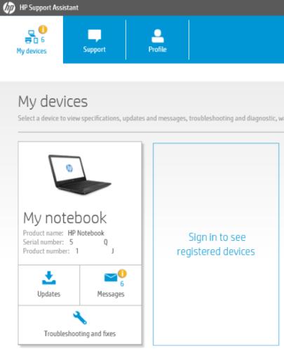 Controladores de actualización de HP Support Assistant 2