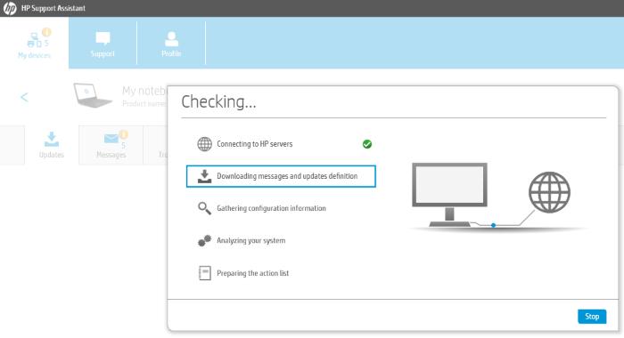 Controladores de actualización de HP Support Assistant 3