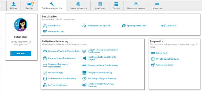 Controladores de actualización de HP Support Assistant 6