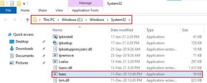 Proceso lsass.exe en Windows 10_4