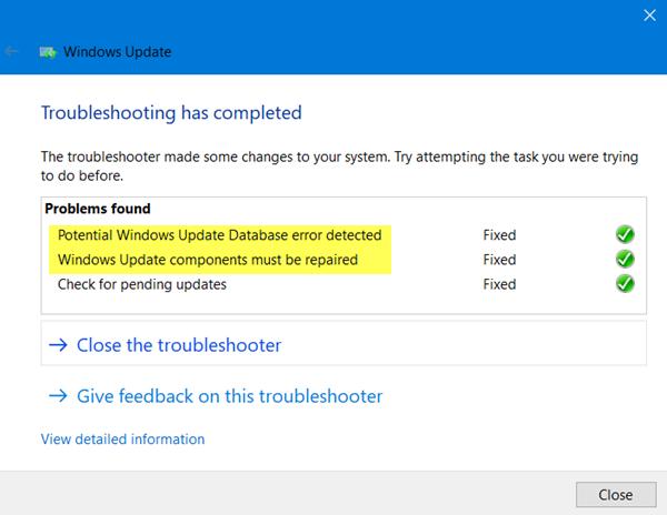 Solucionador de problemas de actualización de Windows